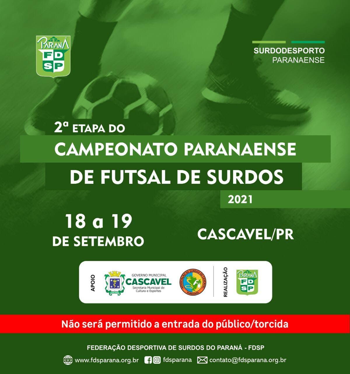 Cartaz 2etapa Futsal 2021 - Cascavel