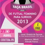Cartaz da 1 fase da Taça Brasil de Futsal feminino 2013