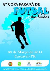 Cartaz da 8a Copa Paraná de Futsal 2014 - Original