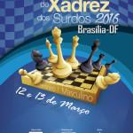 Cartaz do Circuito Nacional de Xadrez dos Surdos - Etapa Brasília