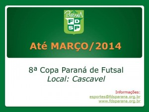 Cartaz provisorio Copa PR de Futsal 2014
