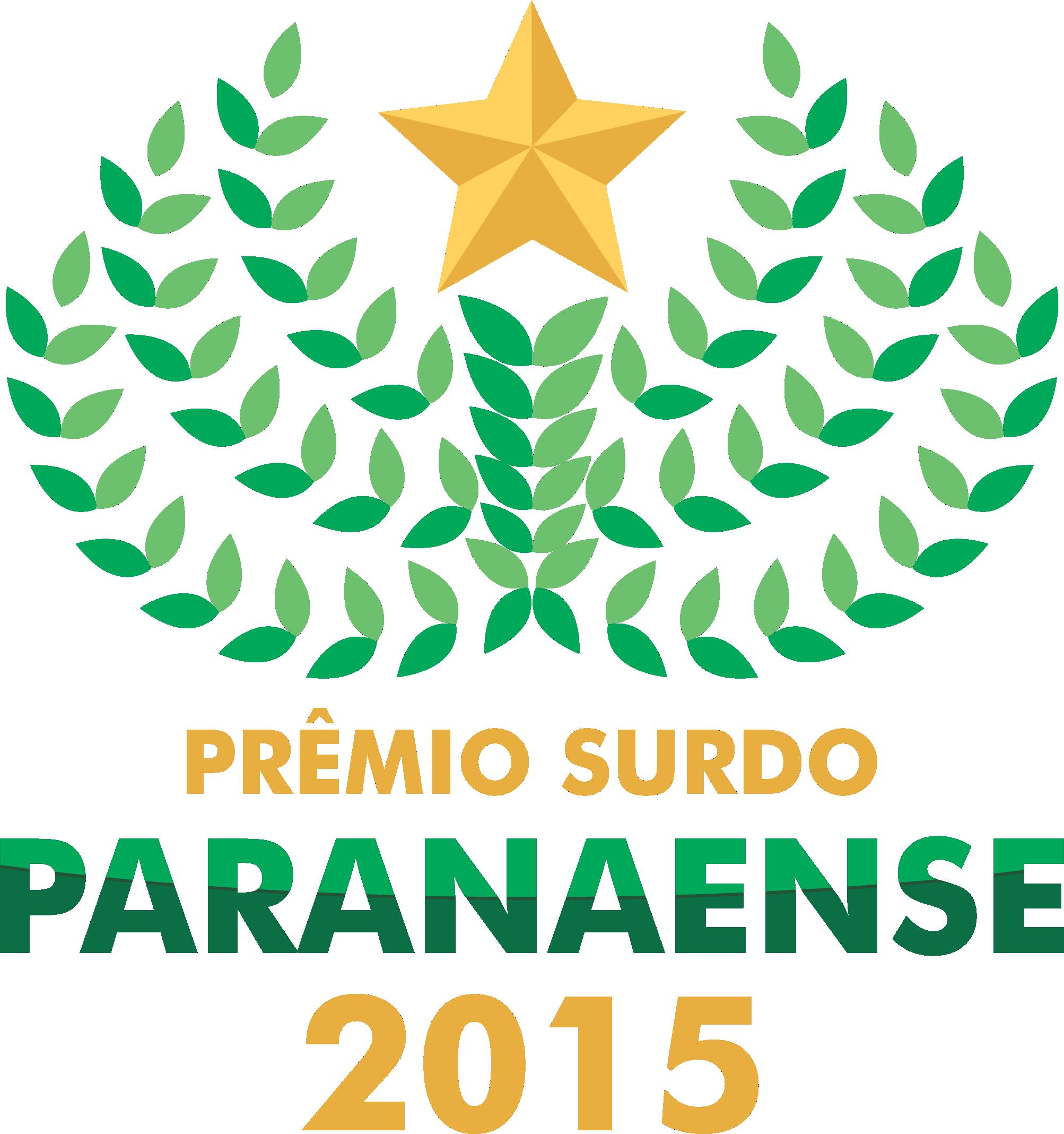 Logotipo Prêmio Surdo Paranaense 2015