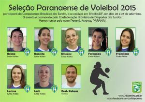 SeleçãoPR - Convocação de voleibol Fem. 2015