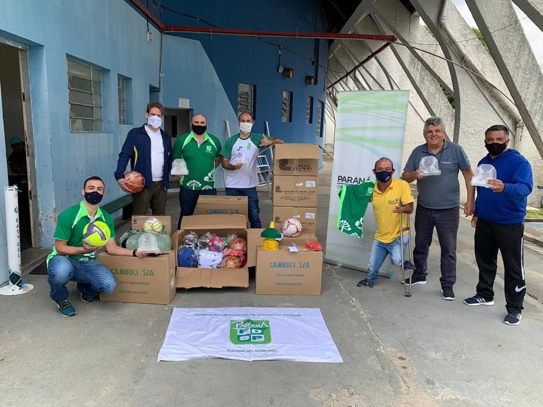Doação dos materiais do Governo do Paraná